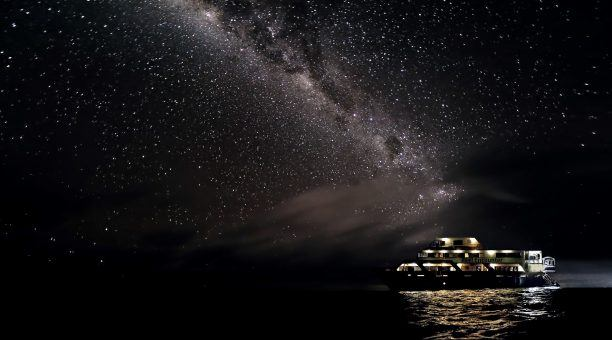 Sleep under a blanket of stars on the Outer Barrier Reef. No light pollution out here!