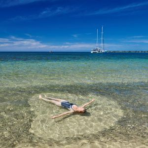 Relax in the clear calm water