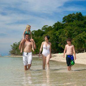 Family on Green Island